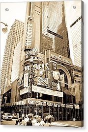 Times Square New York Acrylic Print by Mickey Clausen