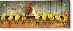 Tipsy Chicks Acrylic Print
