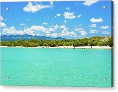 Tortuga Bay Beach At Santa Cruz Island In Galapagos  Acrylic Print