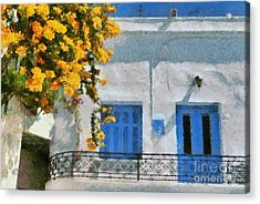 Painting Of House With Traditional Architecture Acrylic Print