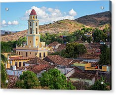 Acrylic Print featuring the photograph Trinidad Cuba Cityscape II by Joan Carroll