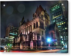 Acrylic Print featuring the photograph Trinity Church - Copley Square Boston by Joann Vitali