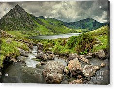 Tryfan In The Ogwen Valley Acrylic Print by Adrian Evans
