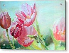 Tulipes Acrylic Print by Muriel Dolemieux