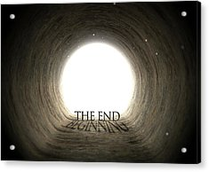 Tunnel Text And Shadow Concept Acrylic Print