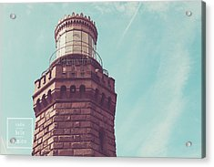 Twin Lights Lighthouse Atlantic Highlands New Jersey Acrylic Print by Erin Cadigan