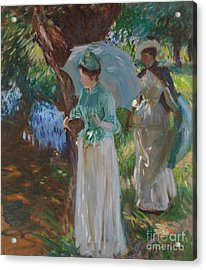 Two Girls With Parasols Acrylic Print