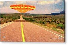 Ufo Over Highway Acrylic Print