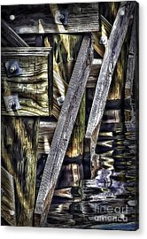 Under The Boardwalk Acrylic Print by Walt Foegelle
