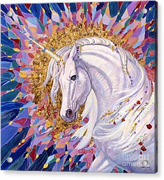 Unicorn II Acrylic Print by Silvia  Duran