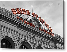 Union Station - Denver  Acrylic Print by Mountain Dreams