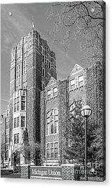 University Of Michigan Union Acrylic Print by University Icons