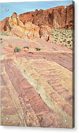 Acrylic Print featuring the photograph Valley Of Fire Rainbow by Ray Mathis
