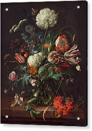 Vase Of Flowers Acrylic Print by Jan Davidsz de Heem