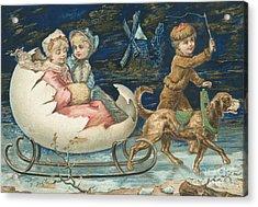 Victorian Christmas Card Acrylic Print