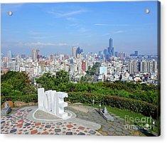 View Of Kaohsiung City Acrylic Print by Yali Shi