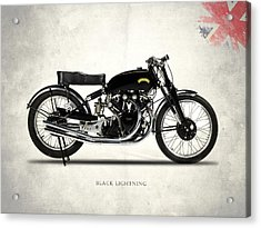 Vincent Black Lightning Acrylic Print
