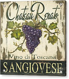 Vineyard Red Wine Sign Acrylic Print
