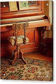 Acrylic Print featuring the photograph Vintage Piano by Jill Battaglia