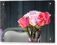Vintage Rose Acrylic Print by Chastity Hoff