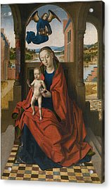 Virgin And Child Acrylic Print by Petrus Christus