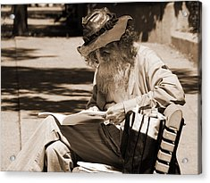 Walt Reading Acrylic Print by Robert Knight