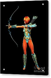 Warrior Queen, Digital Cosplay Art By Mb Acrylic Print