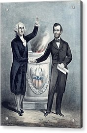 Washington And Lincoln Acrylic Print by War Is Hell Store