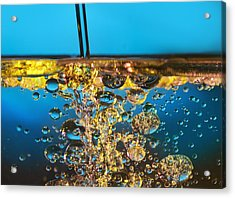 Water And Oil Acrylic Print by Setsiri Silapasuwanchai