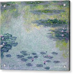 Waterlilies Acrylic Print by Claude Monet