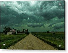 Weathered Acrylic Print by Aaron J Groen