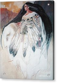 White Buffalo Calf Woman Acrylic Print