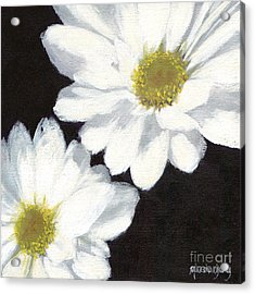 White Daisies Acrylic Print by Marsha Young