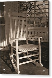 Acrylic Print featuring the photograph White Rocker by Scott Kingery