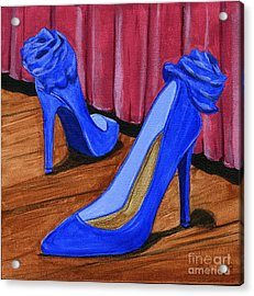 Acrylic Print featuring the painting Who Wears These Shoes by Gail Finn
