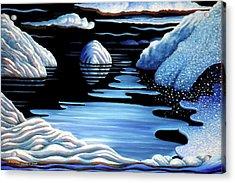 Winter Acrylic Print by Barbara Stirrup