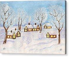 Winter Landscape, Painting Acrylic Print