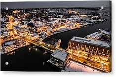 Winter Twilight In Mystic Connecticut Acrylic Print by Petr Hejl