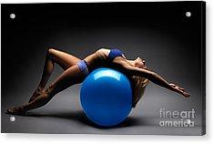 Woman On A Ball Acrylic Print by Oleksiy Maksymenko