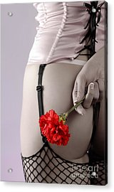 Woman With A Carnation Acrylic Print
