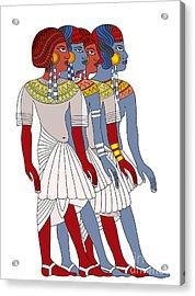Women Of Ancient Egypt Acrylic Print