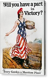 World War I: U.s. Poster Acrylic Print by Granger