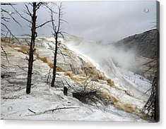 Yellowstone Mammoth Hot Springs Acrylic Print by Pierre Leclerc Photography