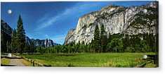 Yosemite Valley Meadow Panorama Acrylic Print
