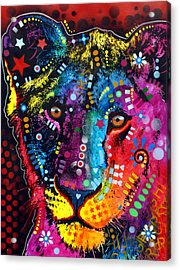 Acrylic Print featuring the painting Young Lion by Dean Russo