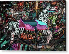 Acrylic Print featuring the photograph Zebra Carousel by Michael Arend