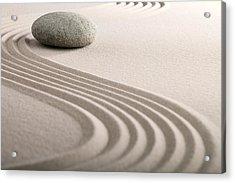 Zen Sand Stone Garden Acrylic Print by Dirk Ercken