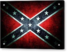 Acrylic Print featuring the photograph Confederate Flag by Les Cunliffe