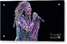Steven Tyler Collection Acrylic Print by Marvin Blaine