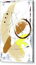 Acrylic Print featuring the painting Three Color Palette by Michal Mitak Mahgerefteh